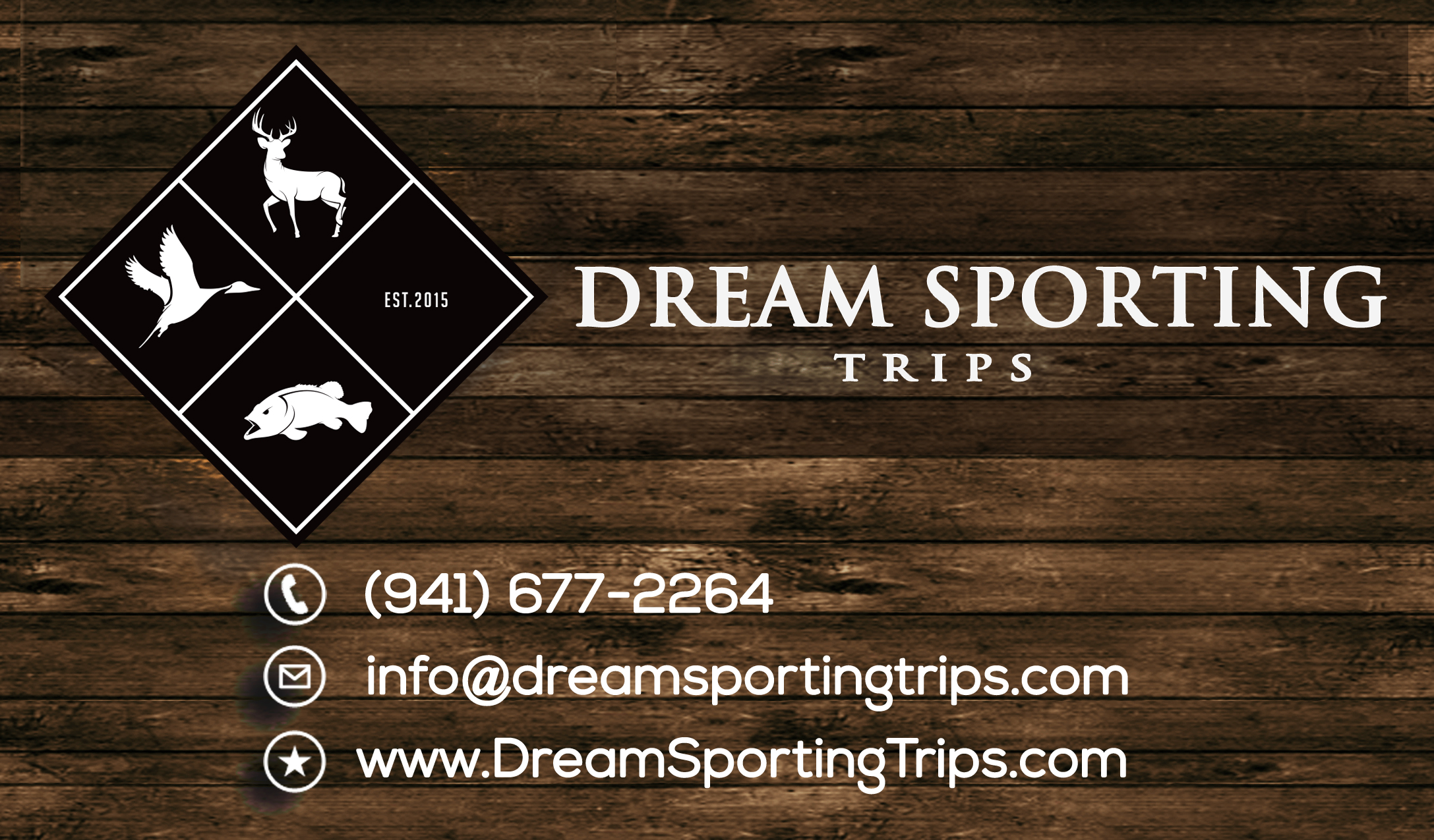 Dream Sporting Trips Front of business card